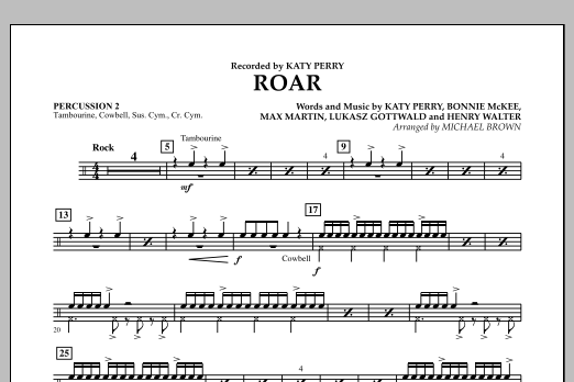 Roar - Percussion 2 (Concert Band)