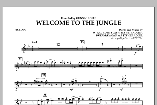 Welcome to the Jungle - Piccolo (Concert Band)