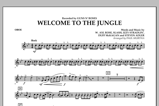 Welcome to the Jungle - Oboe (Concert Band)