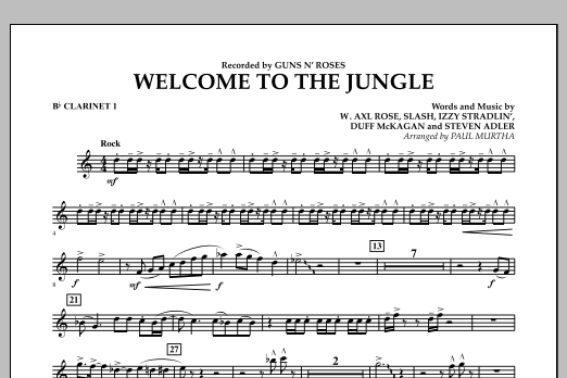 Welcome to the Jungle - Bb Clarinet 1 (Concert Band)