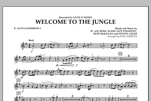 Welcome to the Jungle - Eb Alto Saxophone 1 (Concert Band)