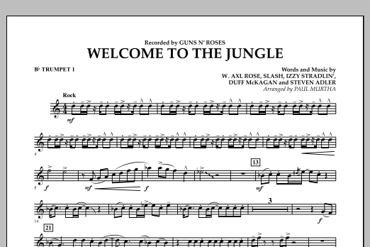 Welcome to the Jungle - Bb Trumpet 1 (Concert Band)