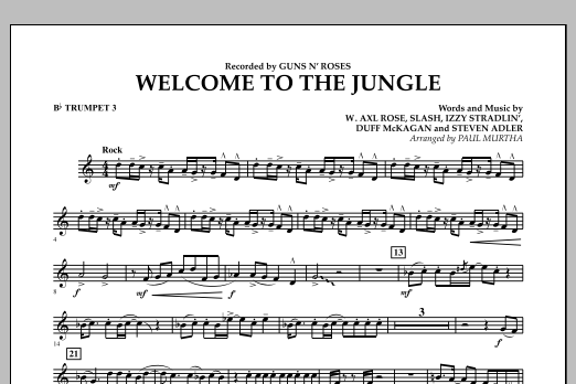 Welcome to the Jungle - Bb Trumpet 3 (Concert Band)