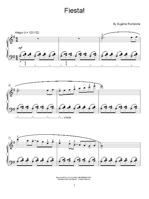 Partition piano Fiesta! de Eugenie Rocherolle - Autre