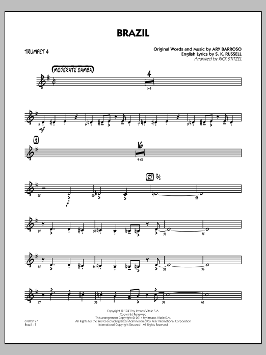 Brazil - Trumpet 4 (Jazz Ensemble)