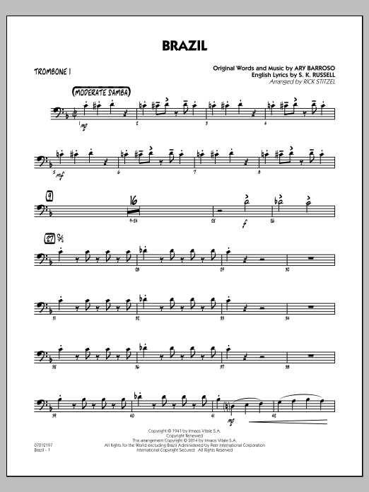 Brazil - Trombone 1 (Jazz Ensemble)