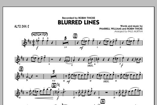 Blurred Lines - Alto Sax 2 (Jazz Ensemble)