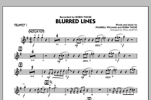 Blurred Lines - Trumpet 1 (Jazz Ensemble)