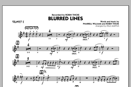 Blurred Lines - Trumpet 2 (Jazz Ensemble)