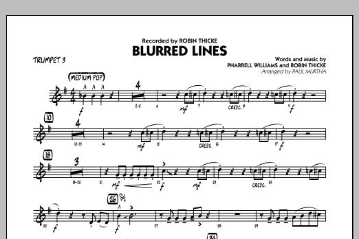 Blurred Lines - Trumpet 3 (Jazz Ensemble)