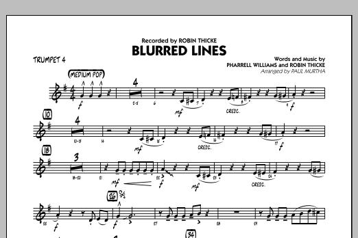 Blurred Lines - Trumpet 4 (Jazz Ensemble)