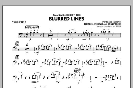 Blurred Lines - Trombone 2 (Jazz Ensemble)
