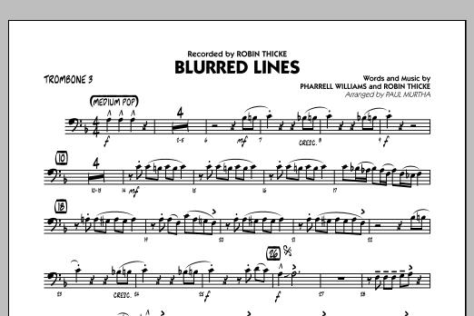 Blurred Lines - Trombone 3 (Jazz Ensemble)