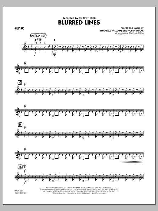 Blurred Lines - Guitar (Jazz Ensemble)