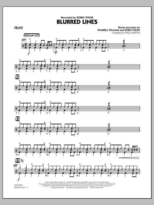 Blurred Lines - Drums (Jazz Ensemble)
