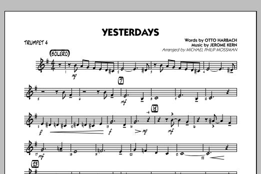 Yesterdays - Trumpet 4 (Jazz Ensemble)