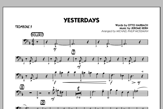 Yesterdays - Trombone 3 (Jazz Ensemble)