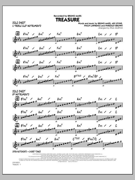 Treasure - Solo Sheet (Jazz Ensemble)