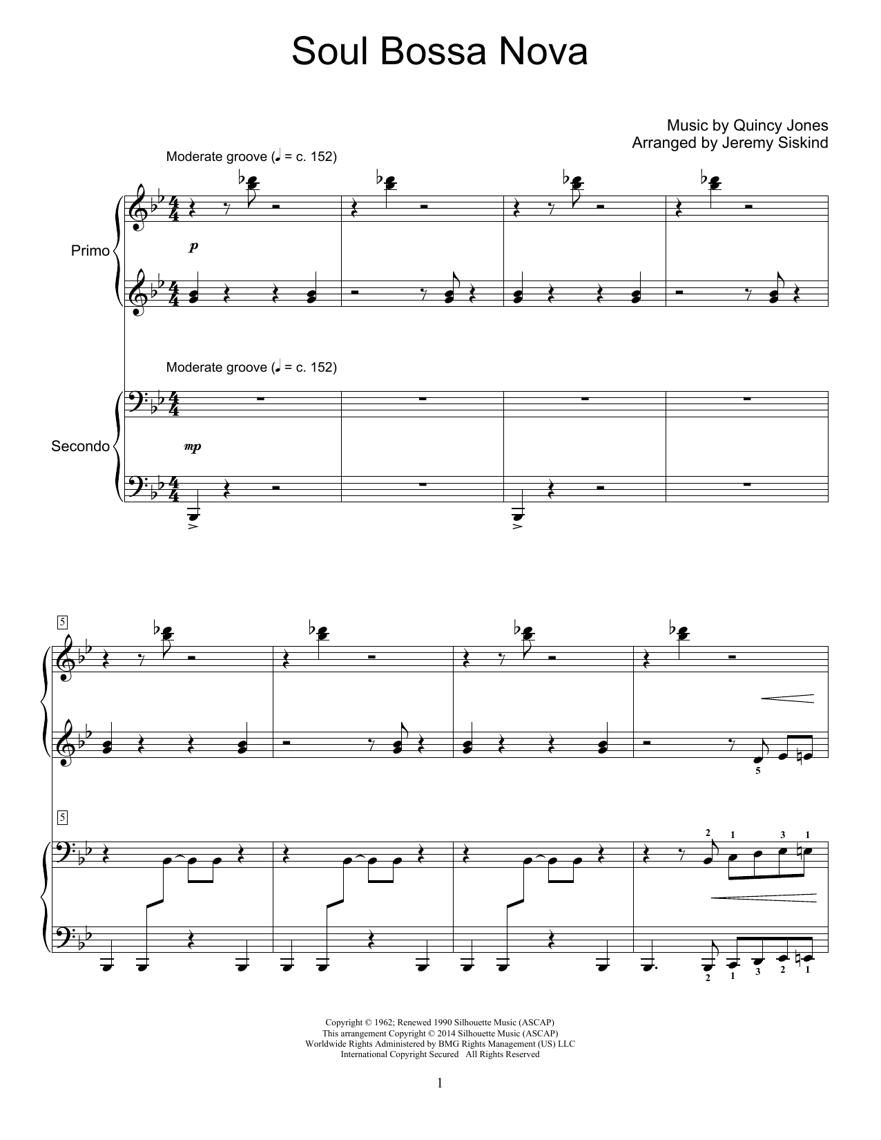 Soul Bossa Nova Sheet Music