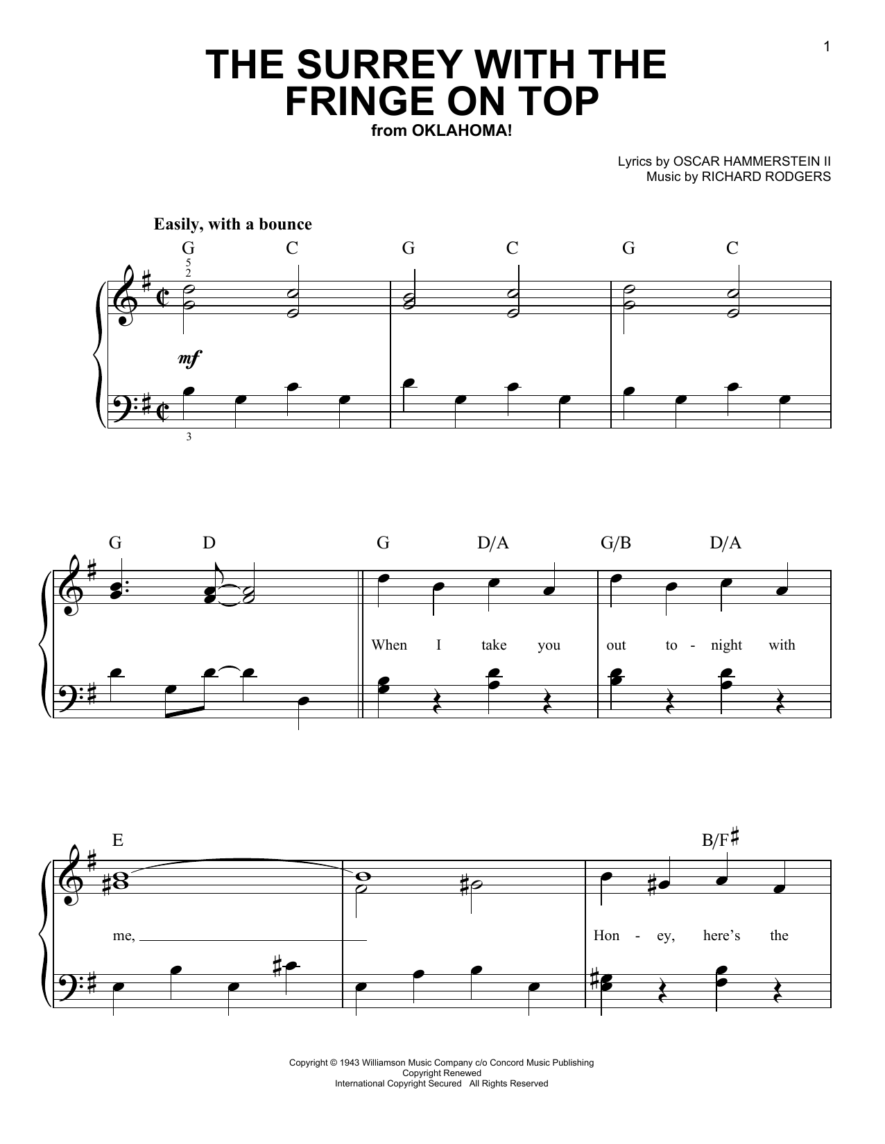 The Surrey With The Fringe On Top Sheet Music