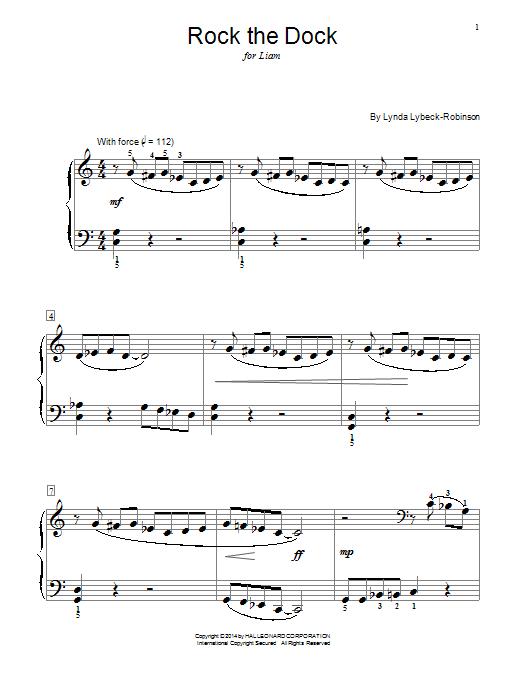 Partition piano Rock The Dock de Lynda Lybeck-Robinson - Autre