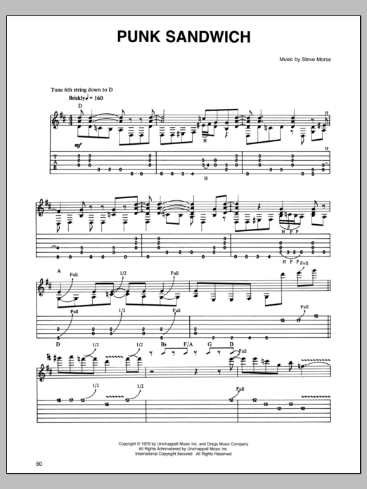 Punk Sandwich Sheet Music