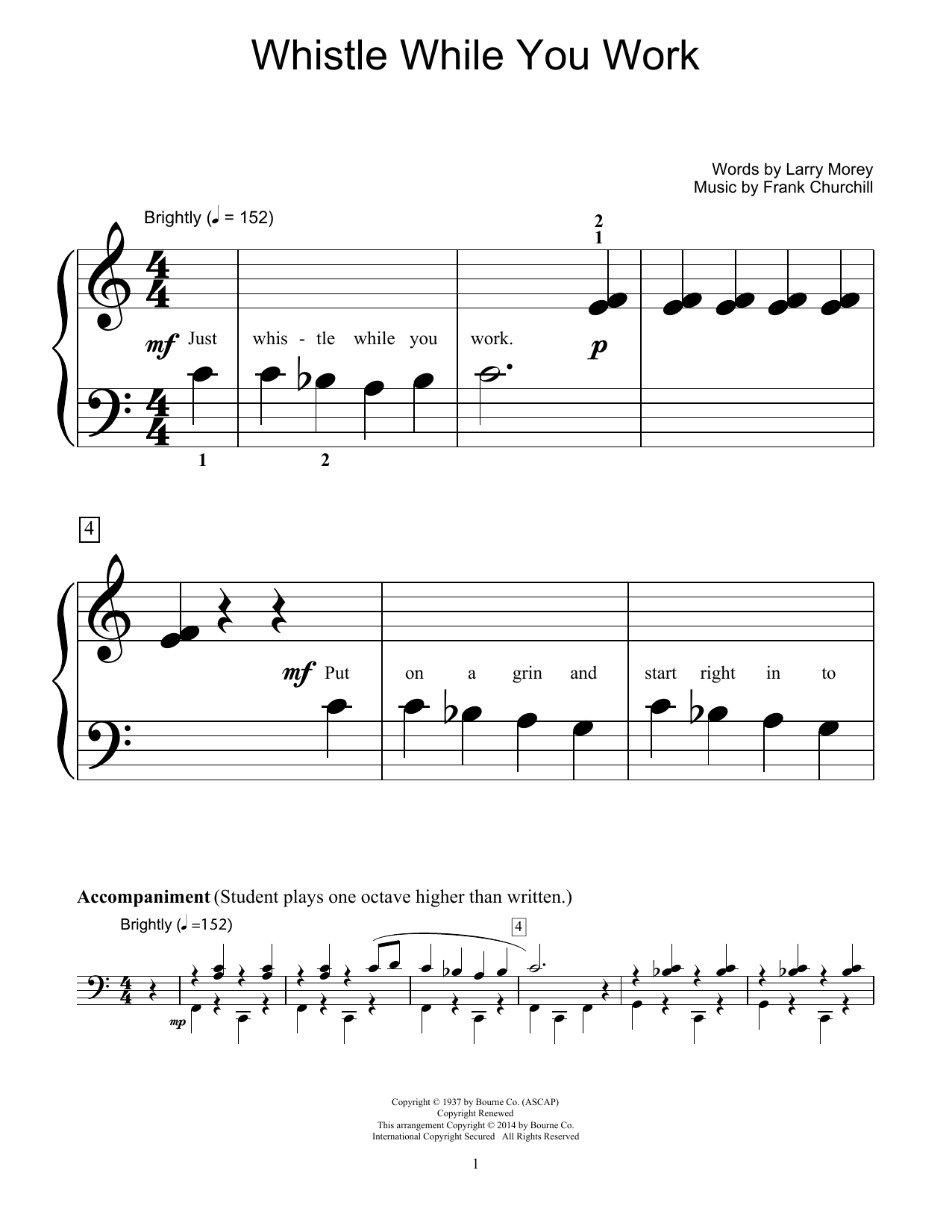 Whistle While You Work Sheet Music