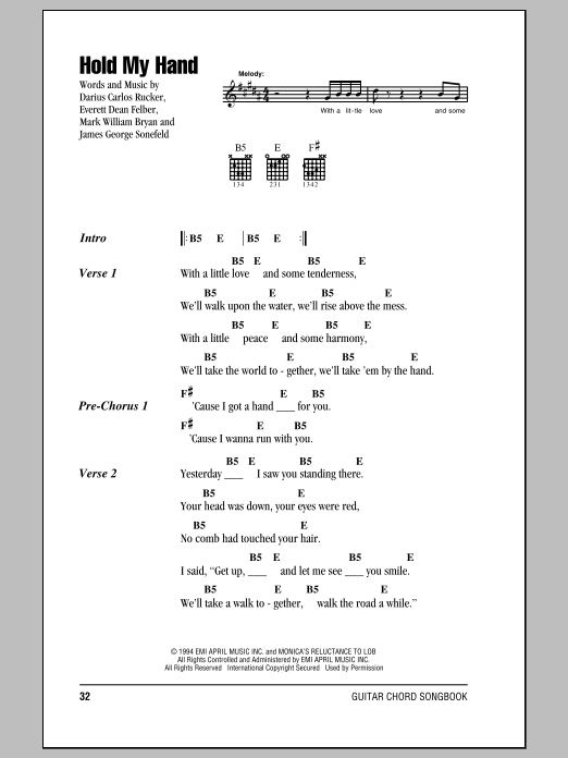 Hold My Hand Sheet Music