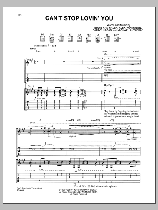 Can't Stop Loving You Sheet Music