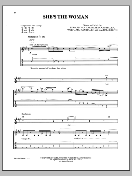 She's The Woman (Guitar Tab)