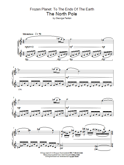 Frozen Planet, The North Pole Sheet Music
