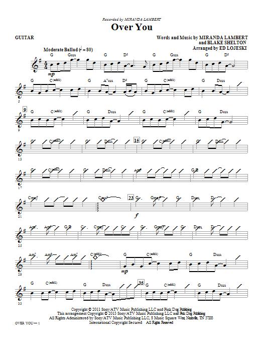 Over You - Guitar (Choir Instrumental Pak)