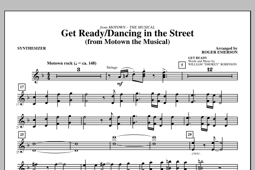 Get Ready/Dancing In The Street - Synthesizer (Choir Instrumental Pak)