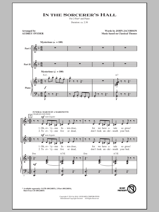 In The Sorcerer's Hall Sheet Music