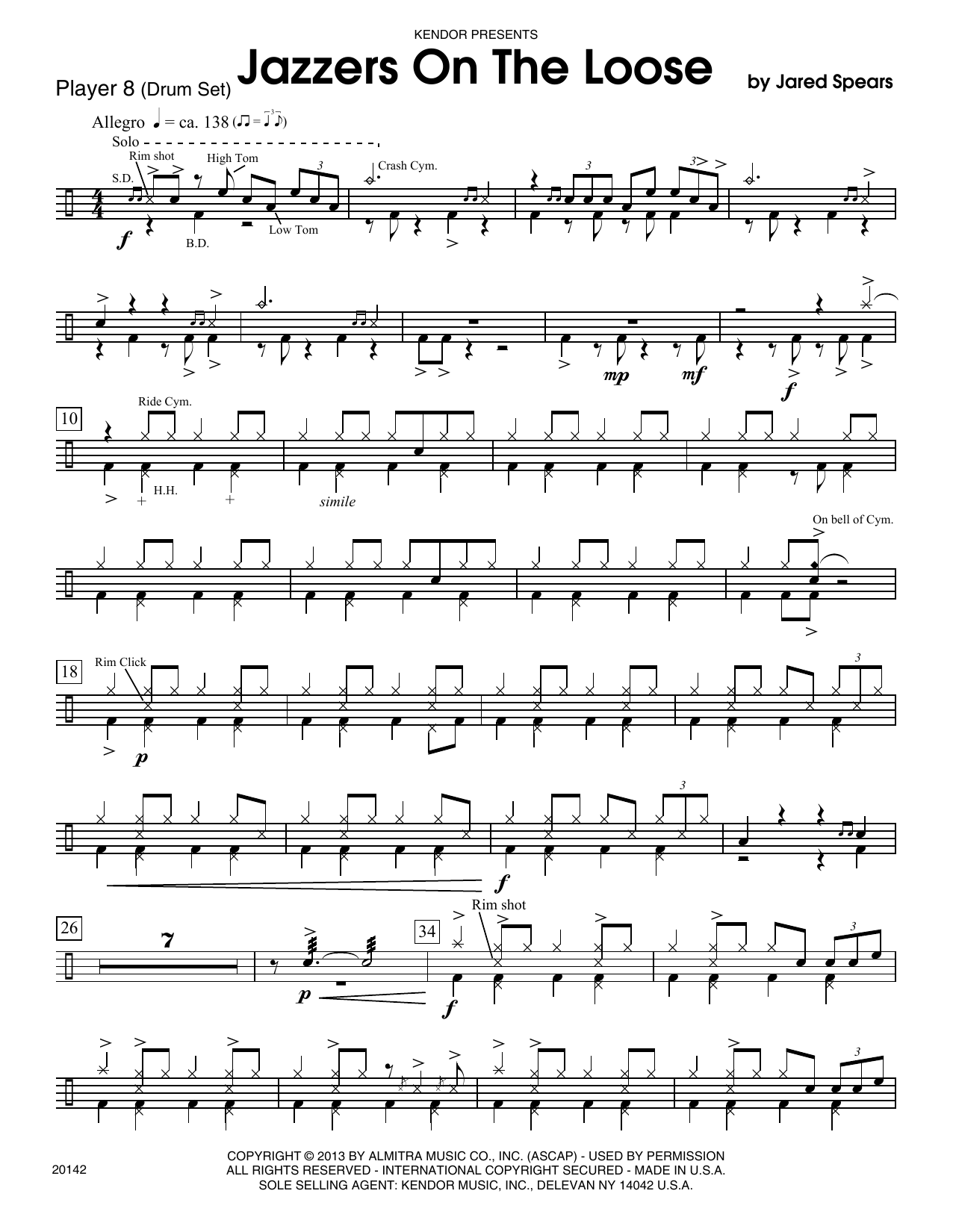 Jazzers On The Loose - Drum Set Sheet Music