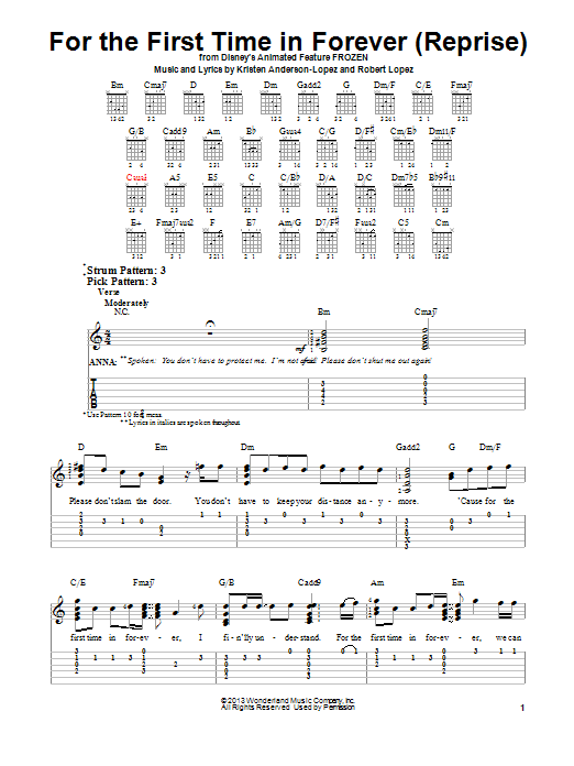 For The First Time In Forever (Reprise) Sheet Music