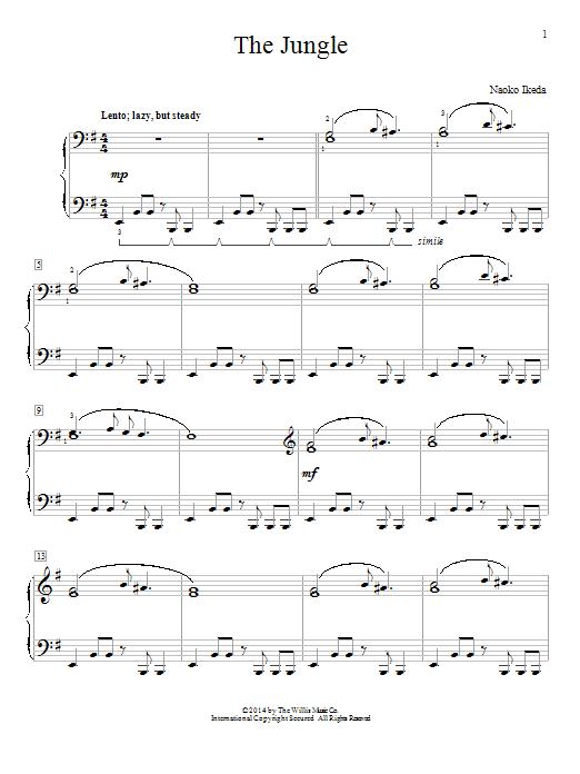 Partition piano The Jungle de Naoko Ikeda - Piano Solo