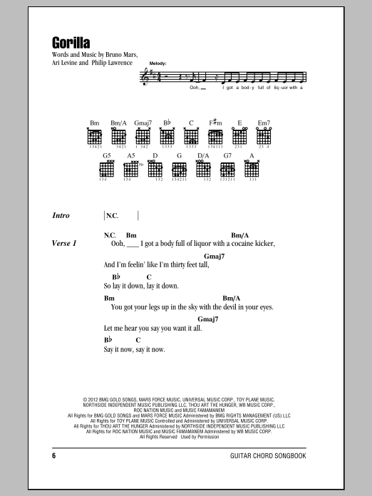 Gorilla Sheet Music