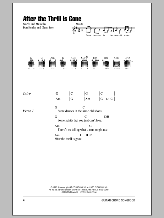 After The Thrill Is Gone Sheet Music Direct