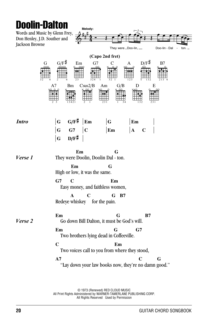 Doolin-Dalton Sheet Music