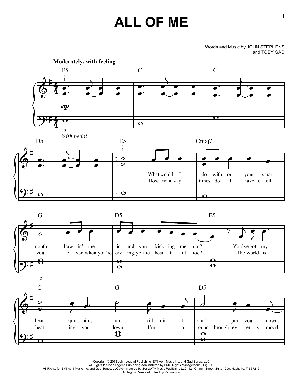 All Of Me | Sheet Music Direct