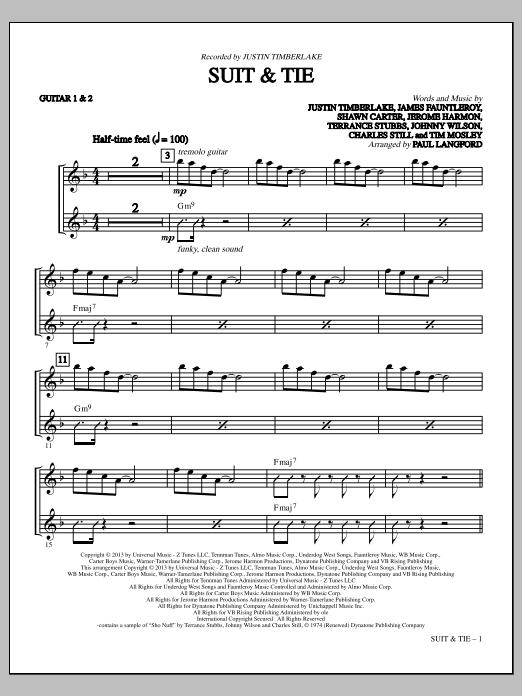 Suit & Tie - Guitars 1 & 2 (Choir Instrumental Pak)