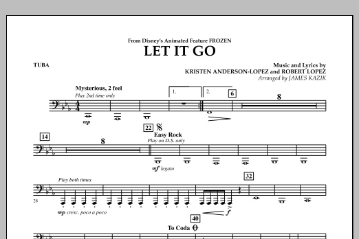 Let It Go (from Frozen) - Tuba (Concert Band)