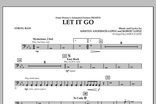 Let It Go (from Frozen) - Bass (Concert Band)