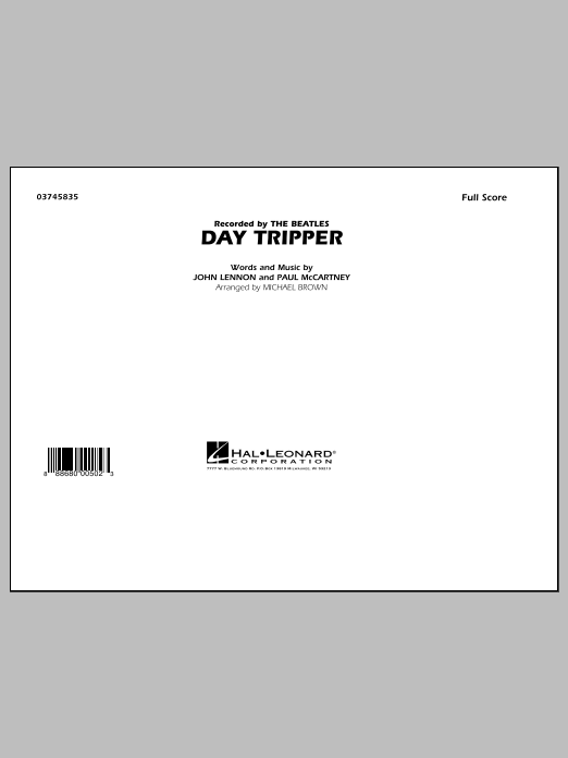 Day Tripper (COMPLETE) sheet music for marching band by Michael Brown, John Lennon, Paul McCartney and The Beatles. Score Image Preview.