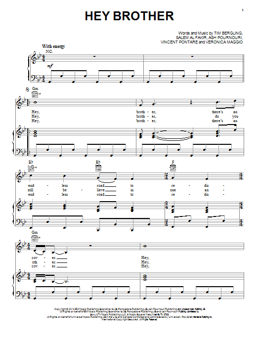 Hey Brother | Sheet Music Direct