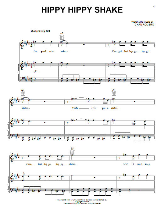 Hippy Hippy Shake Sheet Music