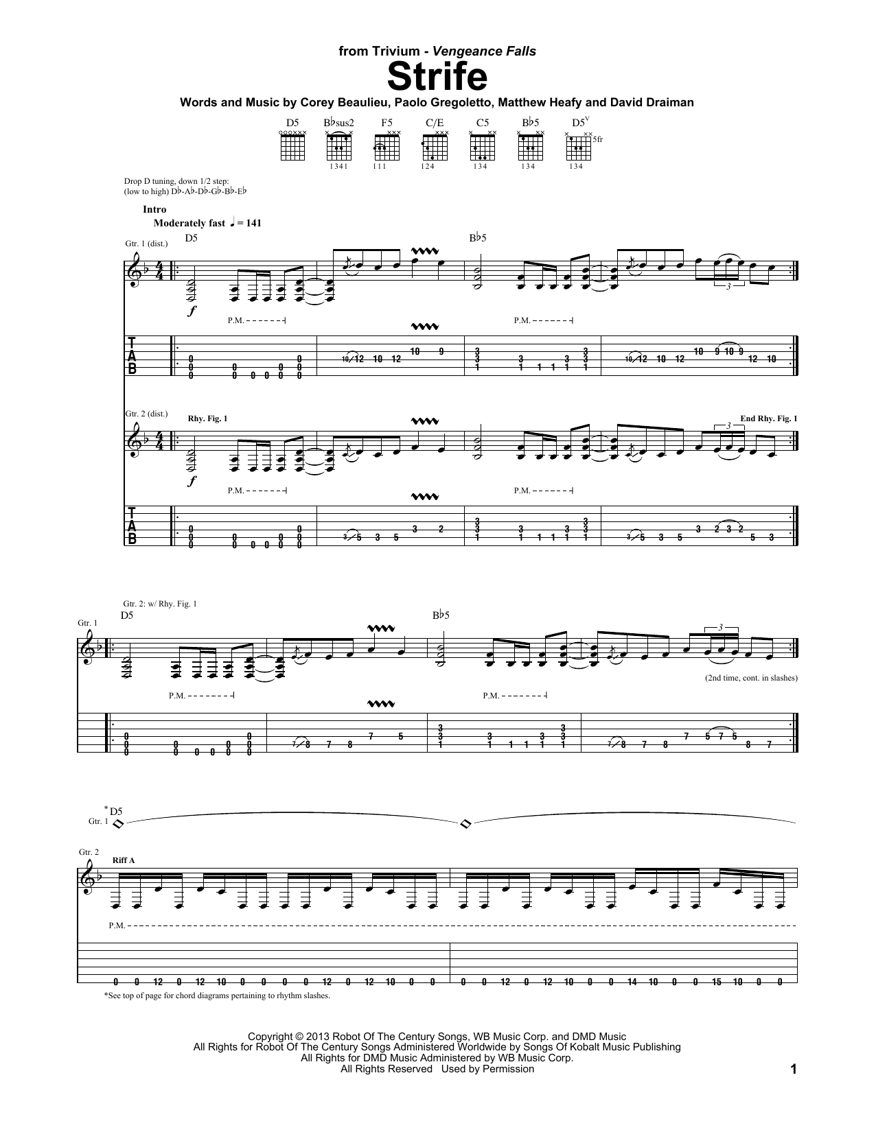 Strife Sheet Music