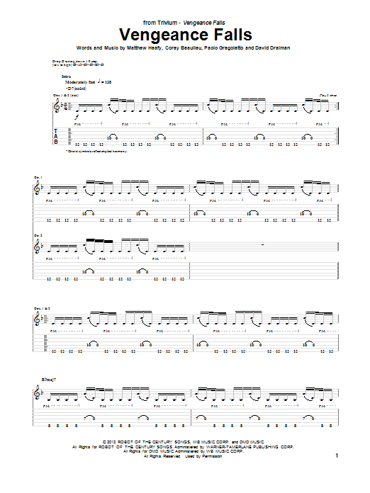 Vengeance Falls Sheet Music