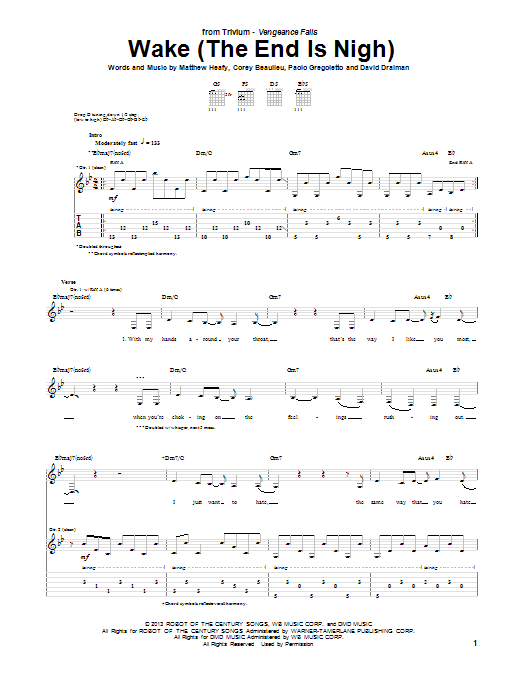 Wake (The End Is Nigh) Sheet Music